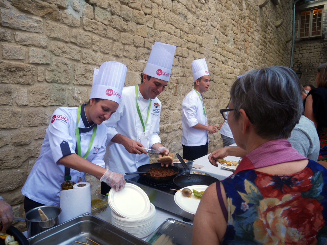 Les chefs de l'Alliance by Institut Paul Bocuse au Cooksound Festival