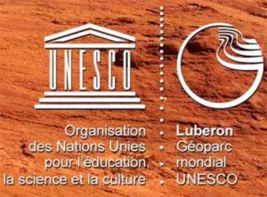 Logo Géoparc mondial UNESCO Luberon