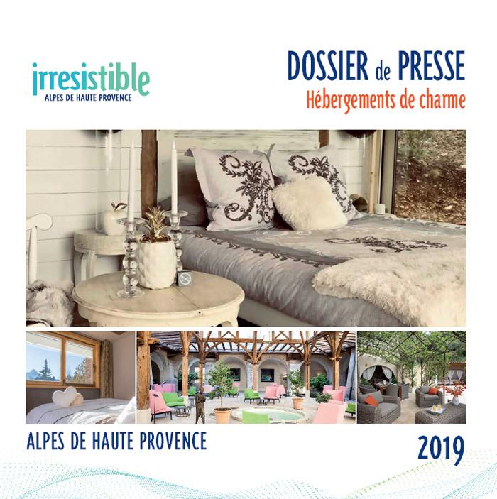 Dossier de presse Hébergements de charme Alpes de Haute Provence