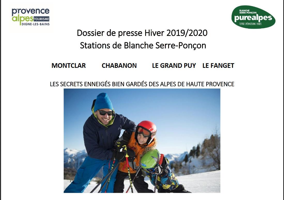 Dossier de presse - Blanche Serre-Ponçon - Hiver 2019-20