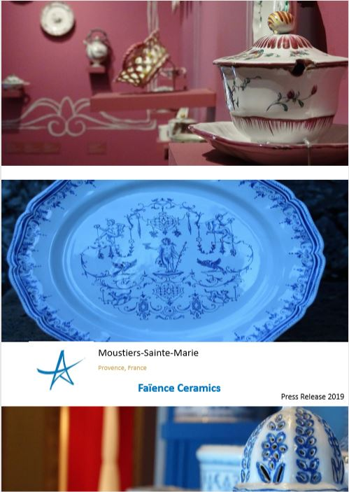 Press Release Faïence Ceramics Moustiers-Sainte-Marie