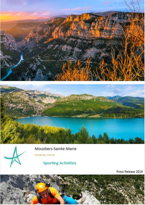 Press Release Sporting Activities Moustiers-Sainte-Marie