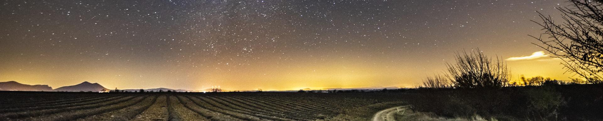 Nuit sur le plateau de Valensole ©AD04-Philippe Murtas