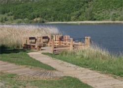 Ponton de pêche du lac de Mison