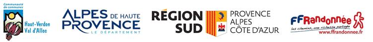 logos partenaires Tours du Haut-Verdon